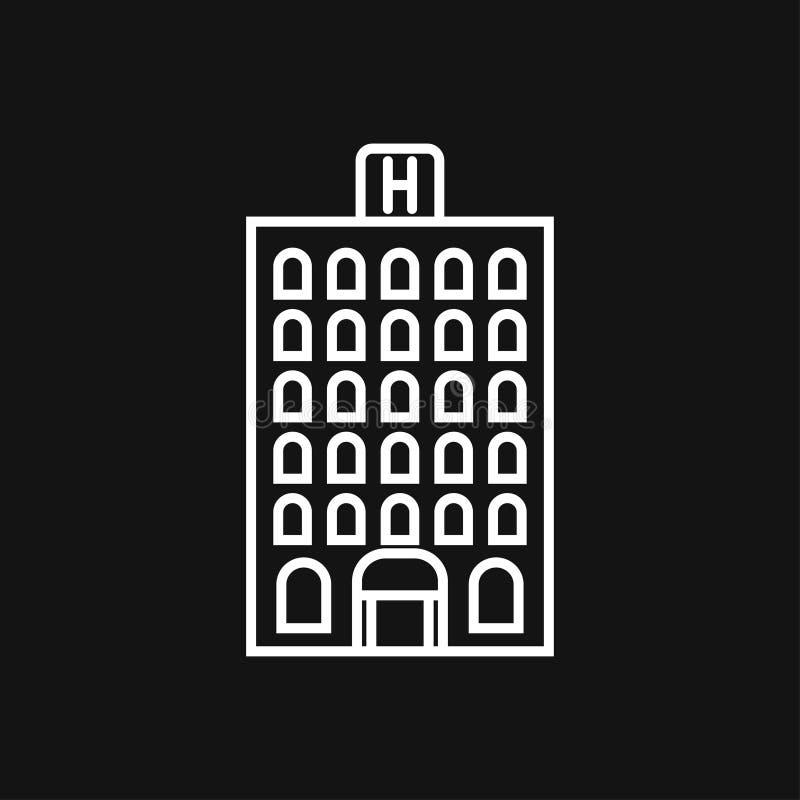 Hotelikonenlogo, Illustration, Vektorzeichensymbol f?r Entwurf lizenzfreie abbildung