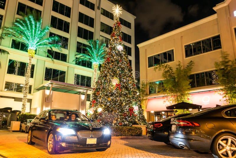 Hotelingang op de Boulevard van Las Olas in Voet Lauderdale, Florida stock foto