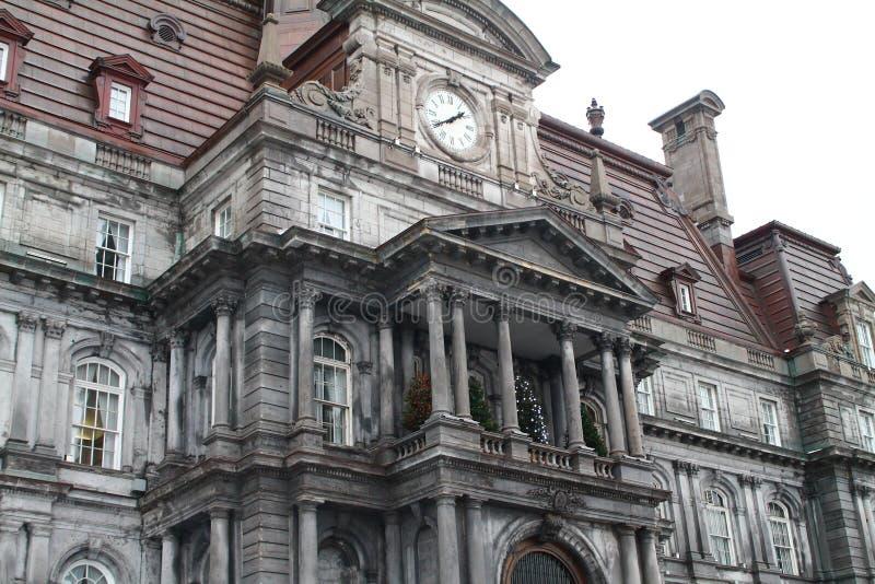 Hotell de ville - gammal port Montreal Kanada för stadshus arkivfoton