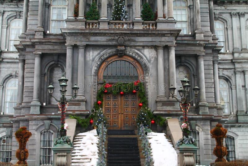 Hotell de ville - gammal port Montreal Kanada för stadshus fotografering för bildbyråer