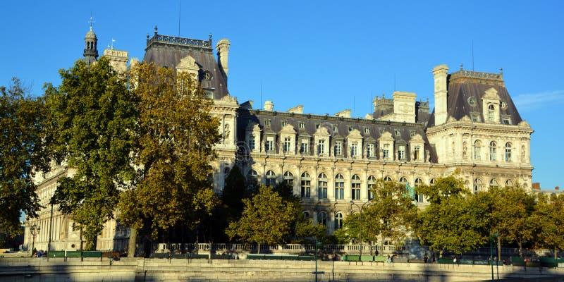 Hotell de Ville, stadshus i Paris arkivbilder