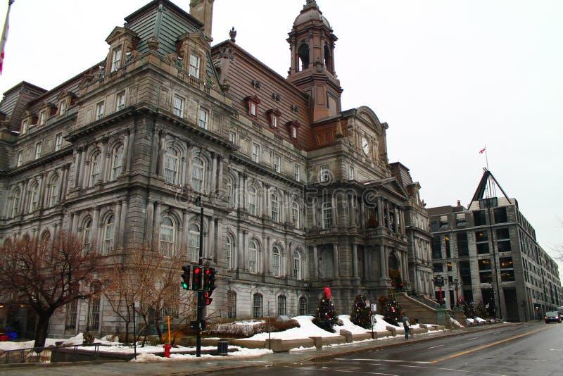 Hotell de ville - stadshusMontreal gammal port Montreal Kanada arkivbilder