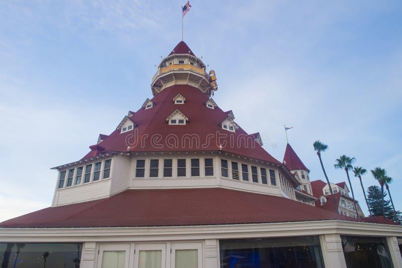 Hotell Del Coronado royaltyfri fotografi