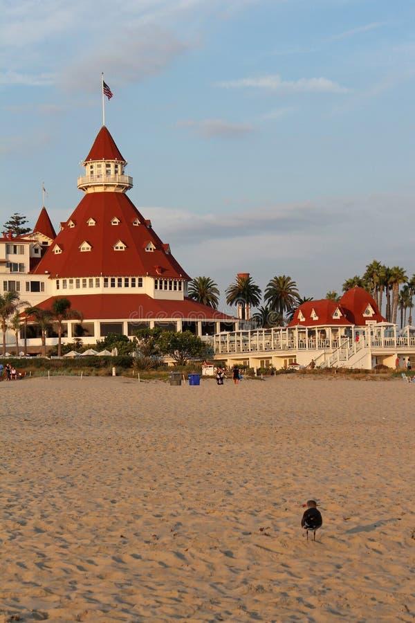 Hotell Del Coronado, Kalifornien fotografering för bildbyråer