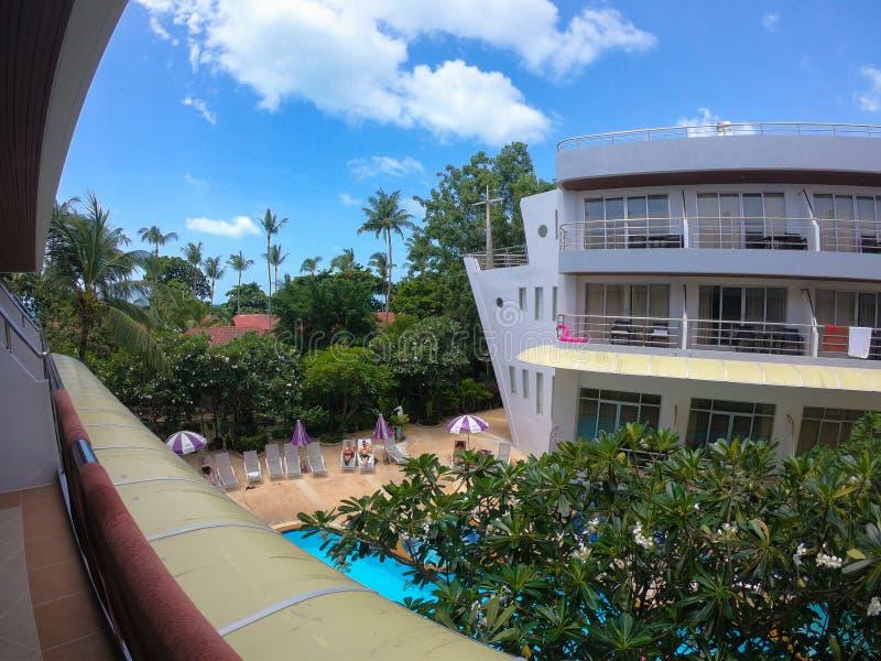 Hotell för Ö för knock-out SAMUI lyxigt, THAILAND Koh Samui arkivbilder