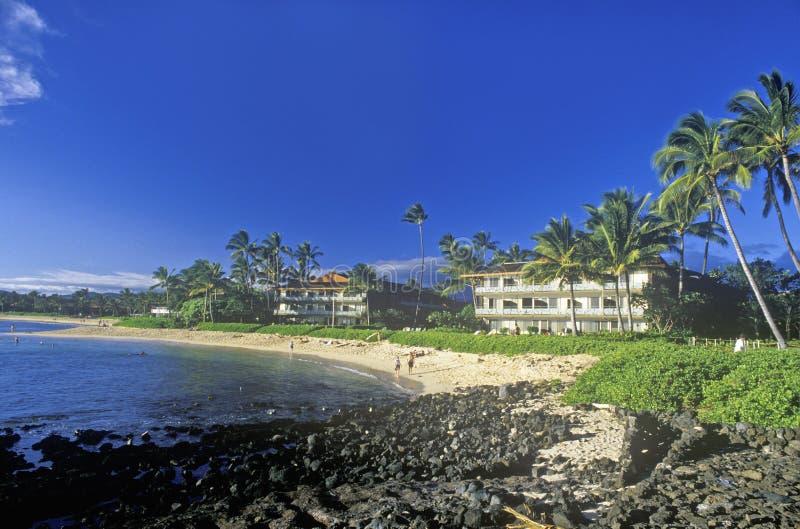Hotell för Hanapepe fjärdsemesterort, Kauai, Hawaii royaltyfri foto