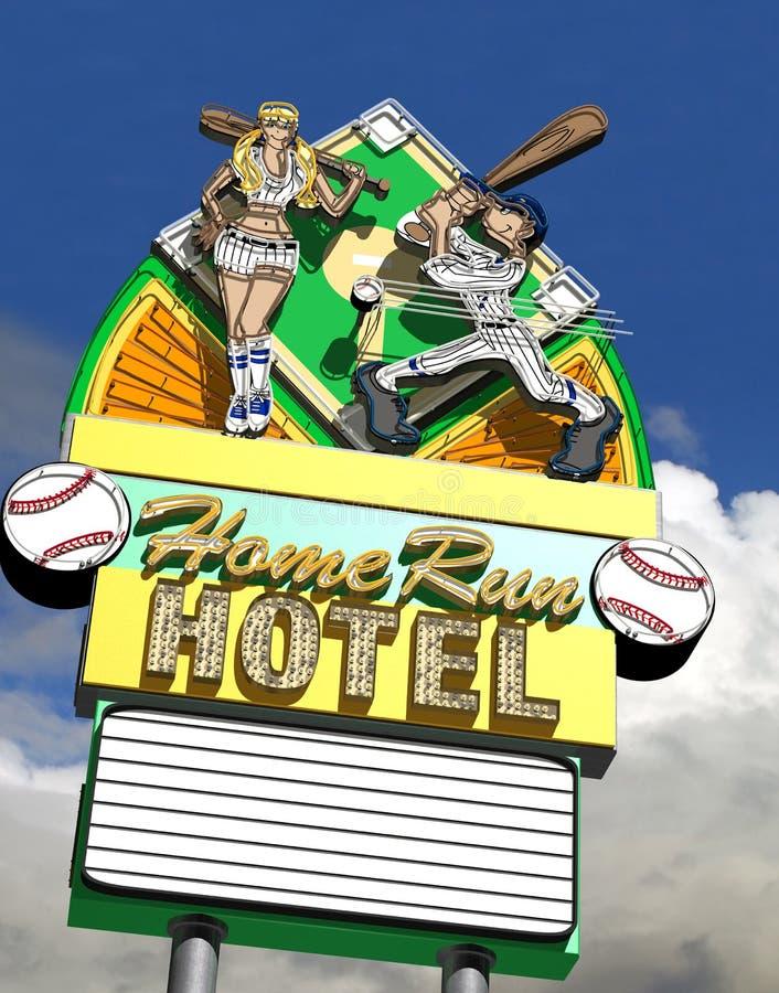 Hotell för Home körning royaltyfri illustrationer