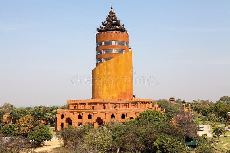 Hotell för Nann Myint visningtorn, Bagan, Myanmar arkivfoto