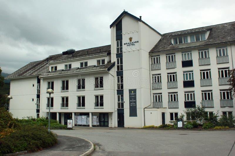 hotell för 4-star Brakanes i Ulvik, Norge arkivfoto