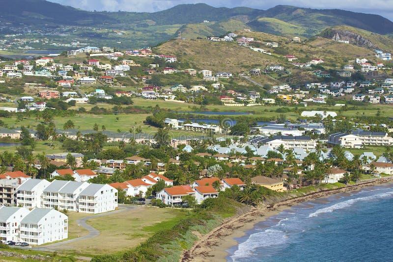 Hotell i St Kitts som är karibisk arkivbild