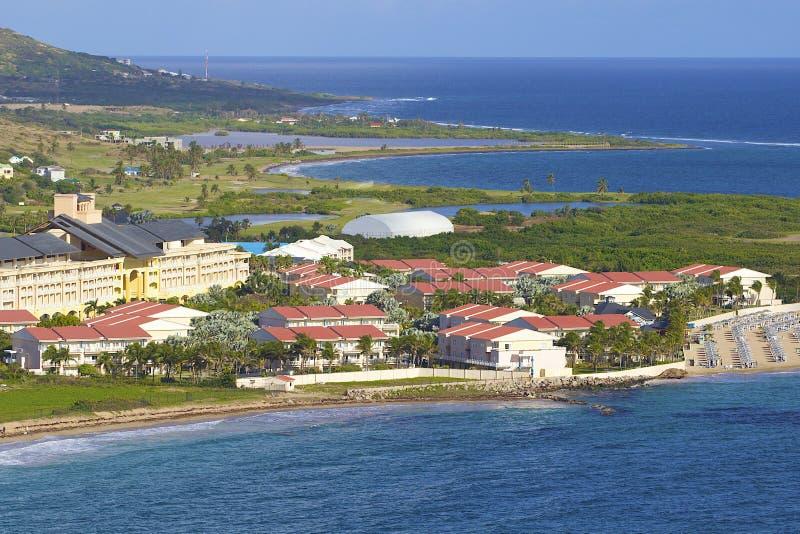 Hotell i St Kitts som är karibisk royaltyfria foton
