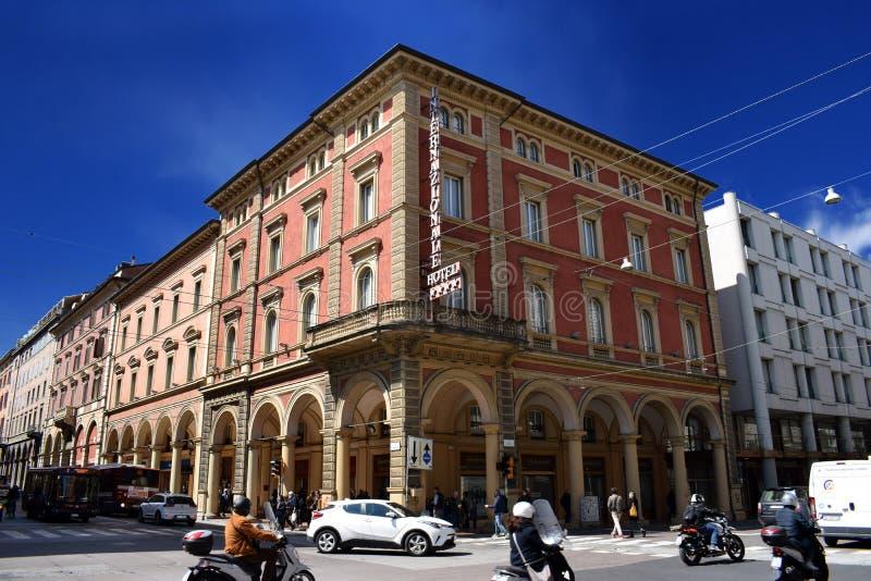 Hotell Internazionale, Bologna, Italien fotografering för bildbyråer