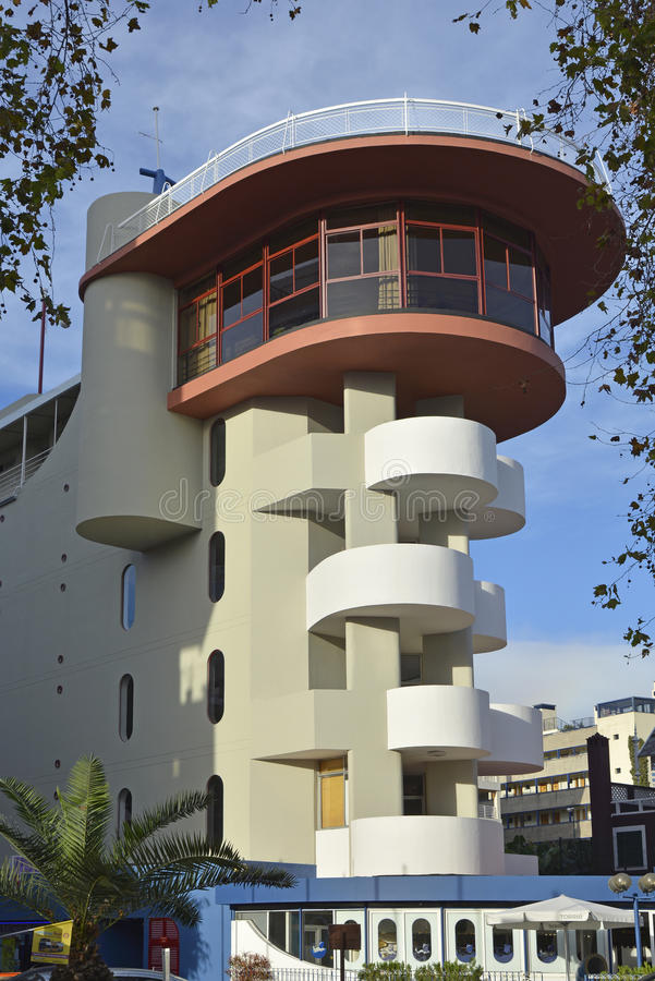 Hotell på Lido, Funchal, madeira, Portugal royaltyfri bild