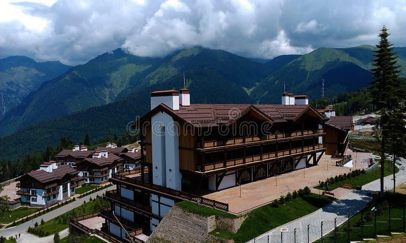Hotell som är komplexa i den olympiska byn, Sochi arkivbilder