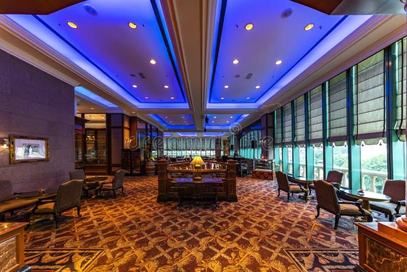 Hotell som äter middag restaurangen fotografering för bildbyråer
