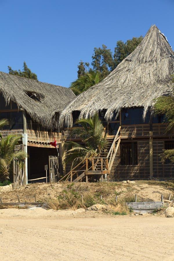 Hotella Posada in Mancora, Peru royalty-vrije stock afbeelding