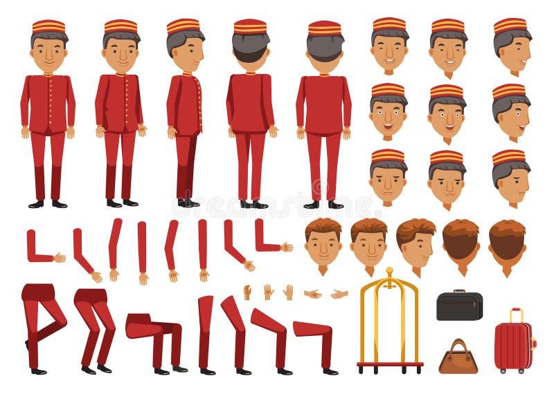 Hotellbagage vektor illustrationer
