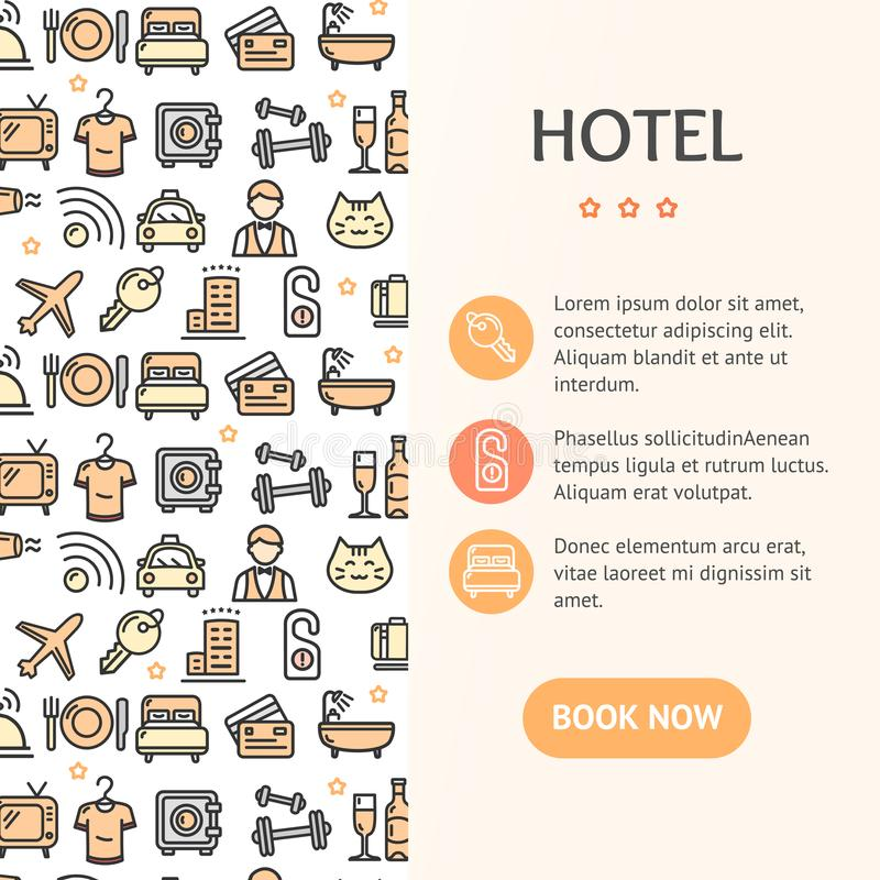 HotellbegreppsInfographics baner vektor stock illustrationer