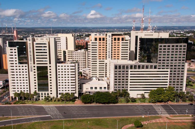Hotellbyggnadskomplex av Brasilia royaltyfri foto
