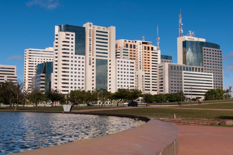 Hotellbyggnadskomplex av Brasilia royaltyfri bild
