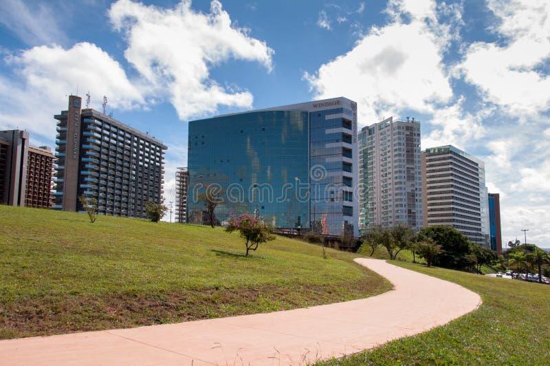 Hotellbyggnadskomplex av Brasilia royaltyfria foton