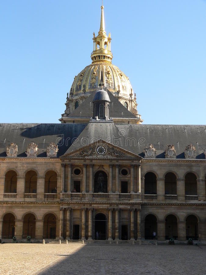 Hotelldes Invalides, Paris Royaltyfria Foton