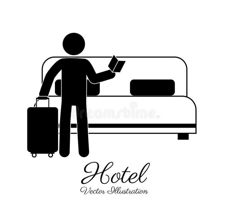 Hotelldesign, vektorillustration royaltyfri illustrationer