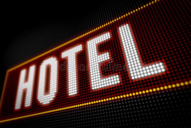 Hotellichten stock foto