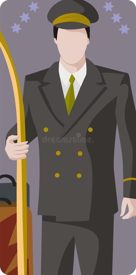hotellillustrationserie stock illustrationer