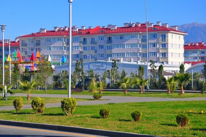 Hotellkomplex i Adler, Sochi, Ryssland arkivbild