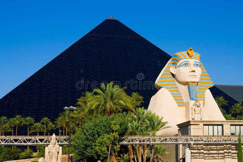hotelllaspyramid vegas arkivfoto