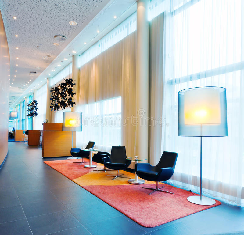 hotelllobby royaltyfri bild