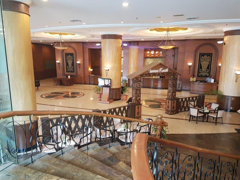 Hotelllobby, toppmötehotell USJ royaltyfria foton
