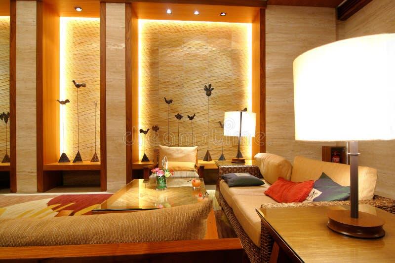 hotelllobbyvardagsrum royaltyfri bild