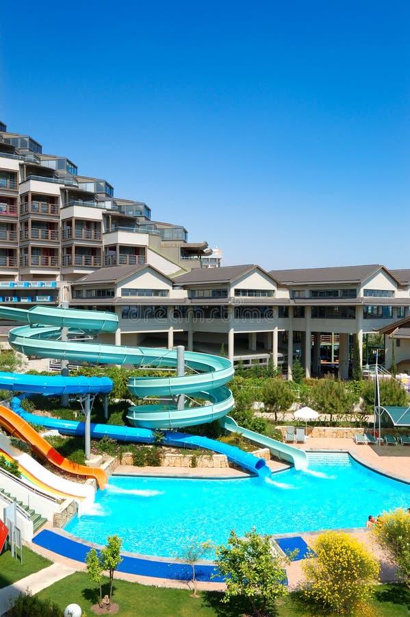 hotelllyxwaterpark royaltyfria bilder