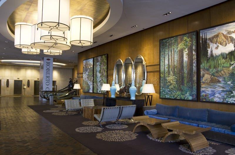 Hotellobby von vier Jahreszeiten Vancouver lizenzfreie stockbilder