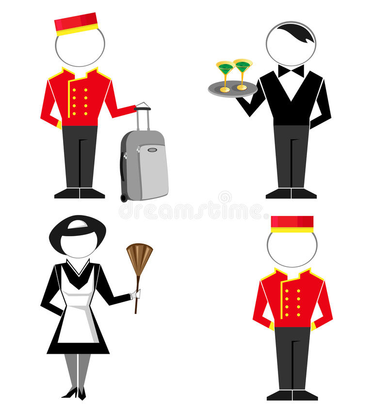 Hotellpersonal royaltyfri illustrationer