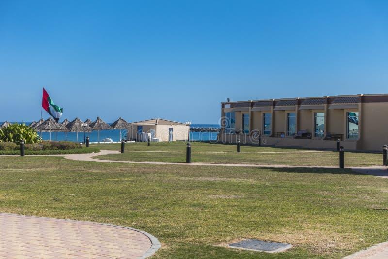 Hotellsemesterort i Dubai arkivfoto