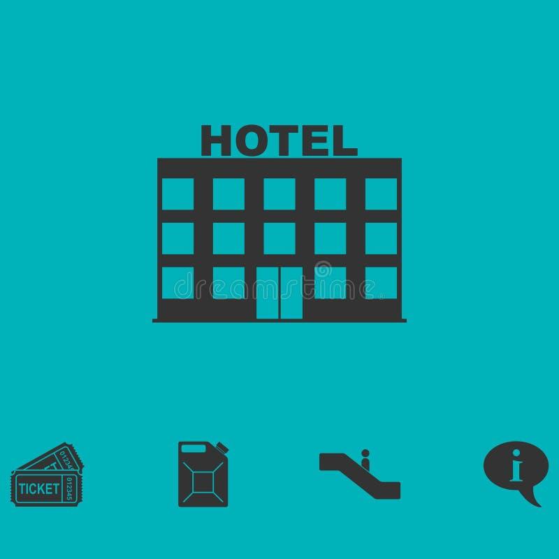 Hotellsymbolslägenhet vektor illustrationer