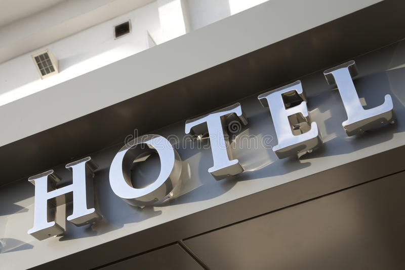 Hotelltecken royaltyfri foto