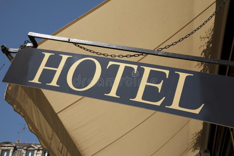 hotelltecken arkivbild