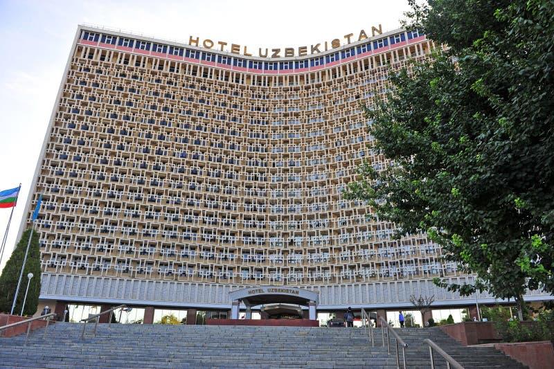 HotellUzbekistan byggnad royaltyfria foton