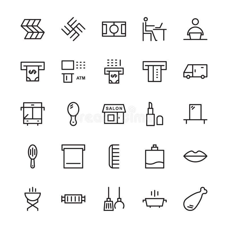 Hotellvektorsymboler 16 stock illustrationer