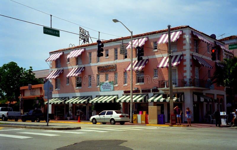 Hotelowa glina, poprzedni kasyno Al Capone, Miami plaża, usa obraz royalty free
