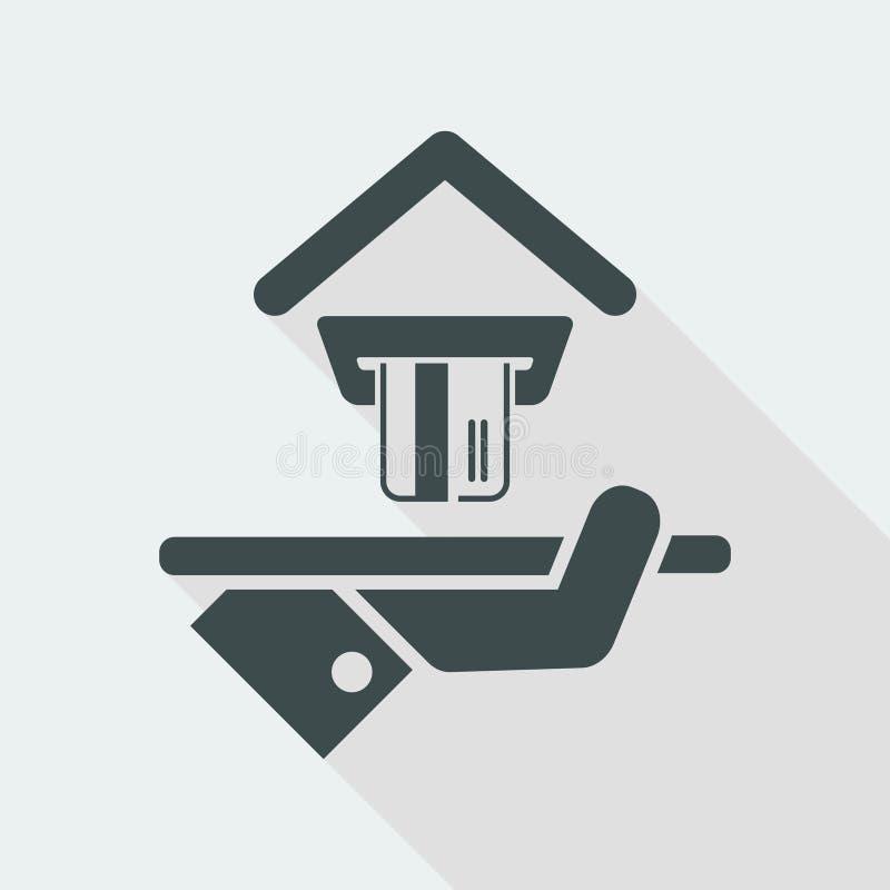 Hotelowa ikona Kredytowe karty akceptować ilustracji