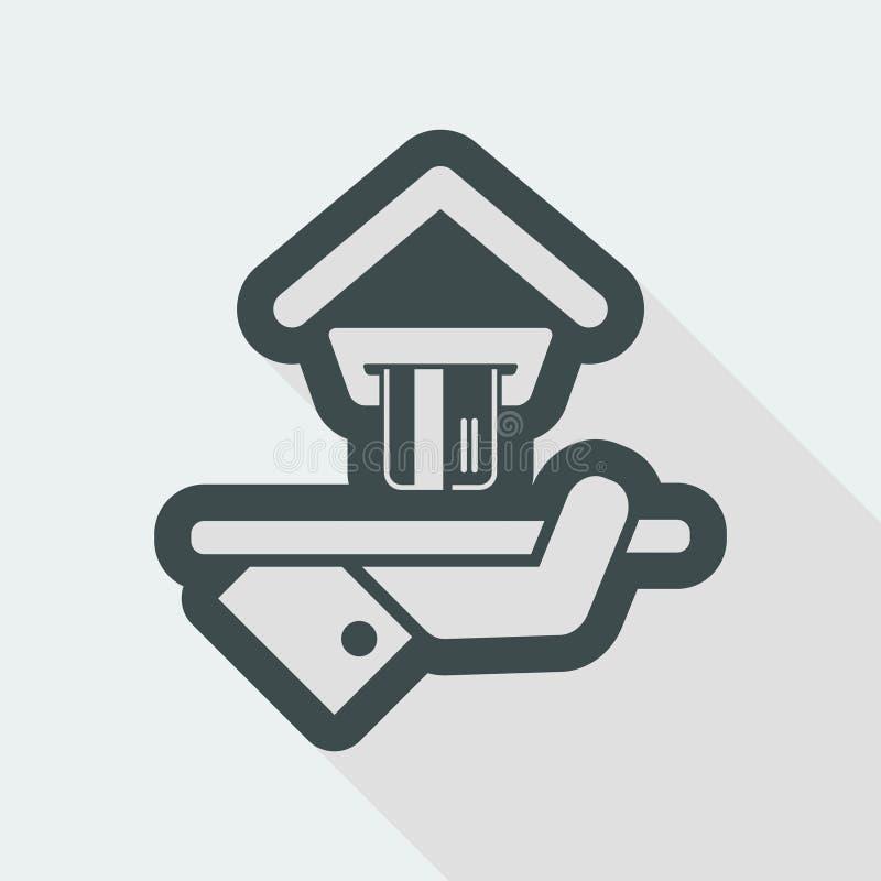 Hotelowa ikona Kredytowe karty akceptować ilustracja wektor