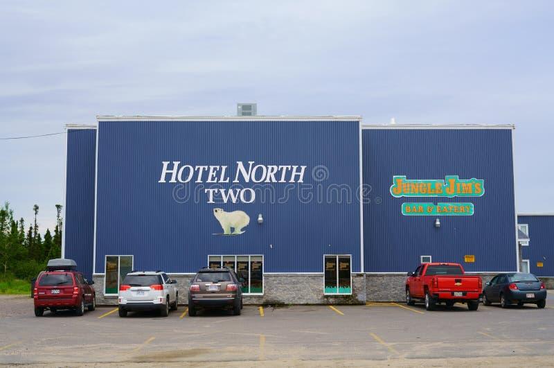 Hotelowa północ Dwa z dostępny na miejscu restauracją w Szczęśliwej gąski zatoce, Kanada zdjęcia royalty free