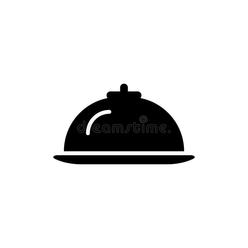 Hotelowa restauracyjna jedzenie linii ikona royalty ilustracja