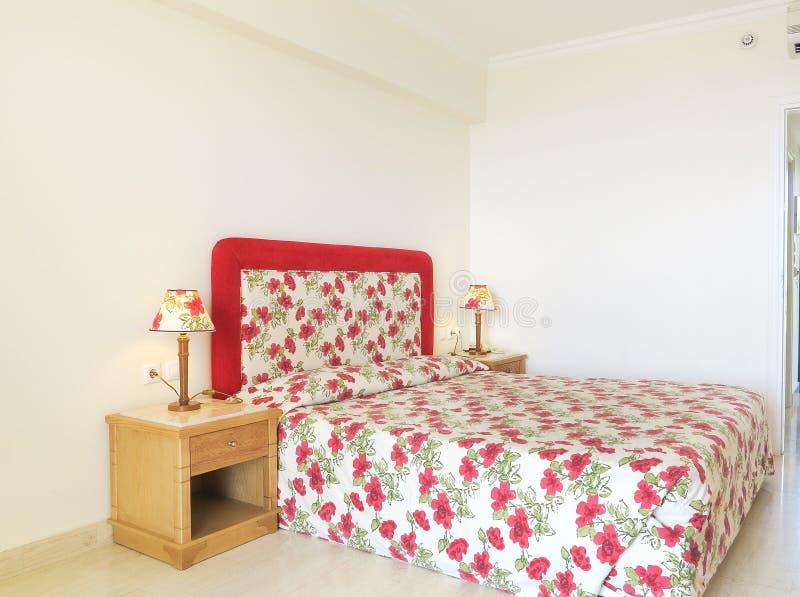 Hotelowa sypialnia obrazy royalty free