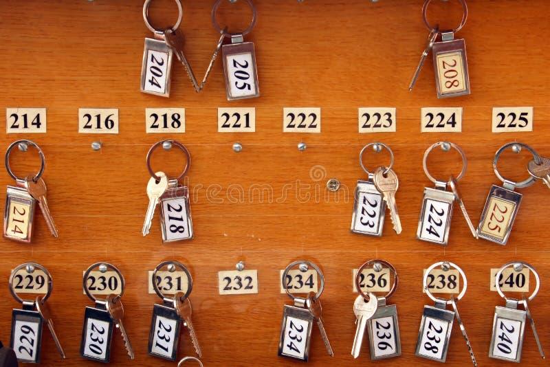 Hotelowi klucze zdjęcie stock